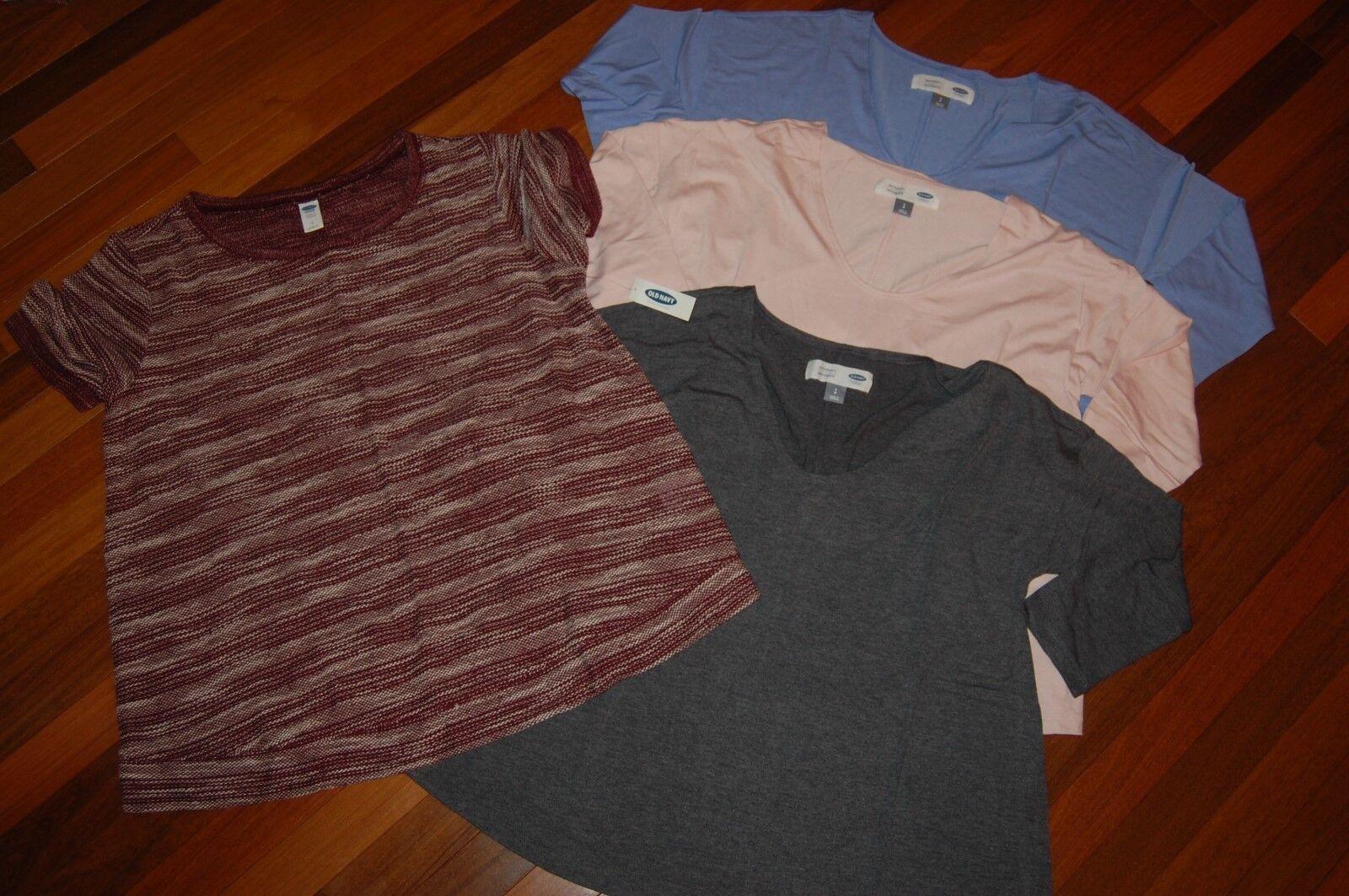 NWT Maternity Old Navy Lot of 4 Shirts NICE Tops size MEDIUM