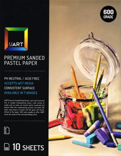 UART Sanded Pastel Paper 10 Sheet Pack 9x12in 23x30cm 600 Grade