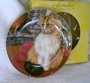 FORMALITIES-by-BAUM-BROS-Collector-Plate-MOUSE-CAT-Long-Hair-Cats-Collection-NEW