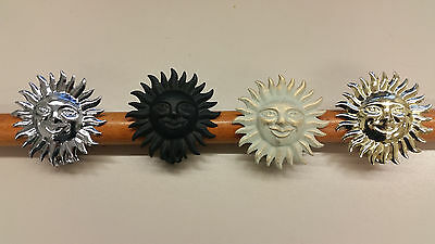 Diszipliniert Raffklammern Aus Metall - Motiv Sonne - 4 Farben Zur Wahl - 2 Stück Duftendes Aroma