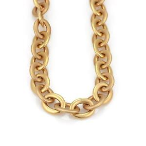 Roberto-Coin-18k-Pink-Gold-Large-Oval-Link-Chain-Long-Necklace-160-grams-39-034-L