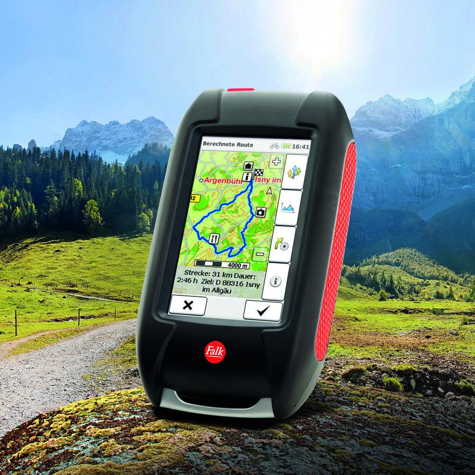 La tinta 32 de foklex.Falk GPS tasche evoc, Alemania.