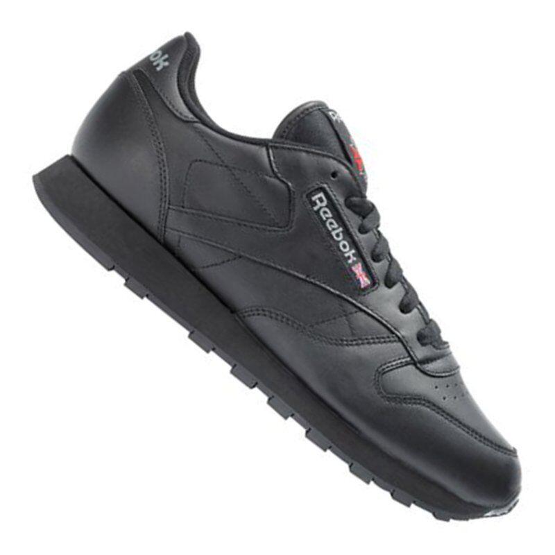 Zapatos promocionales para hombres y mujeres Reebok Classic Leather Sneaker Damen Schwarz
