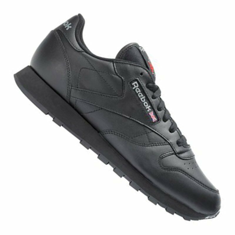 Reebok Classic Leder Sneaker Damen Damen Sneaker Schwarz 200de0