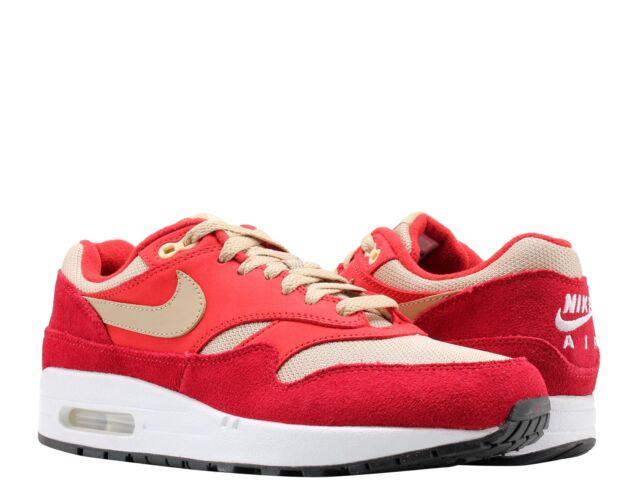 watch 52e93 dcc61 Nike Air Max 1 Premium Retro Red/Mushroom-Red Men's Running Shoes 908366-