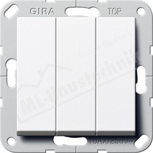 Gira 284403 Taster 3-fach Schliesser System 55 reinweiss 1-polig