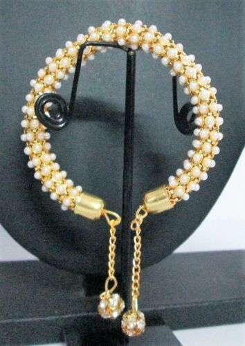 Indian Fashion Wedding Jewelry Bridal Pearl CZ Traditional Bangle Bracelet Sets