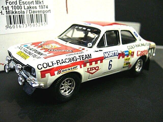 mejor vendido Ford Escort MKI 1600 RS Rally Finland 1974 1000 1000 1000  6 Mikkola Colt Wi Trofeu 1 43  distribución global