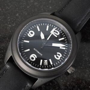 5bbc5c85b Custom Seiko Mod Sinn 656 Style Homage Black Pilot Military Aviator ...