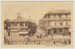Egypt-postcard-Port-Said-Street-of-the-Commerce-A36