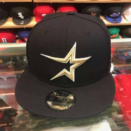 New Era Houston Astros Snapback Hat Cap All Navy//Gold