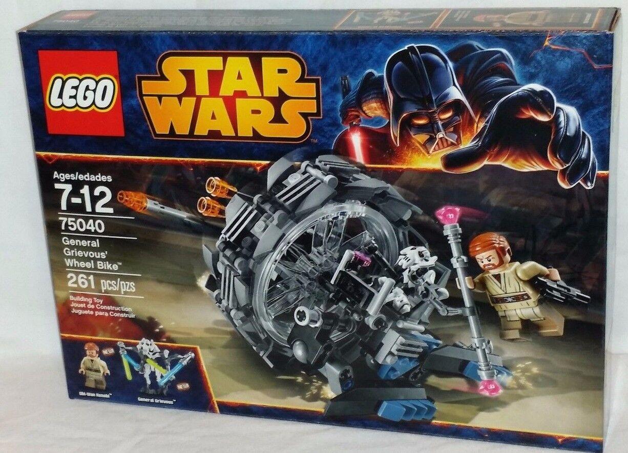 SEALED 75040 LEGO Star Wars GENERAL GRIEVOUS' WHEEL BIKE Obi Wan 261 pc RETIROT