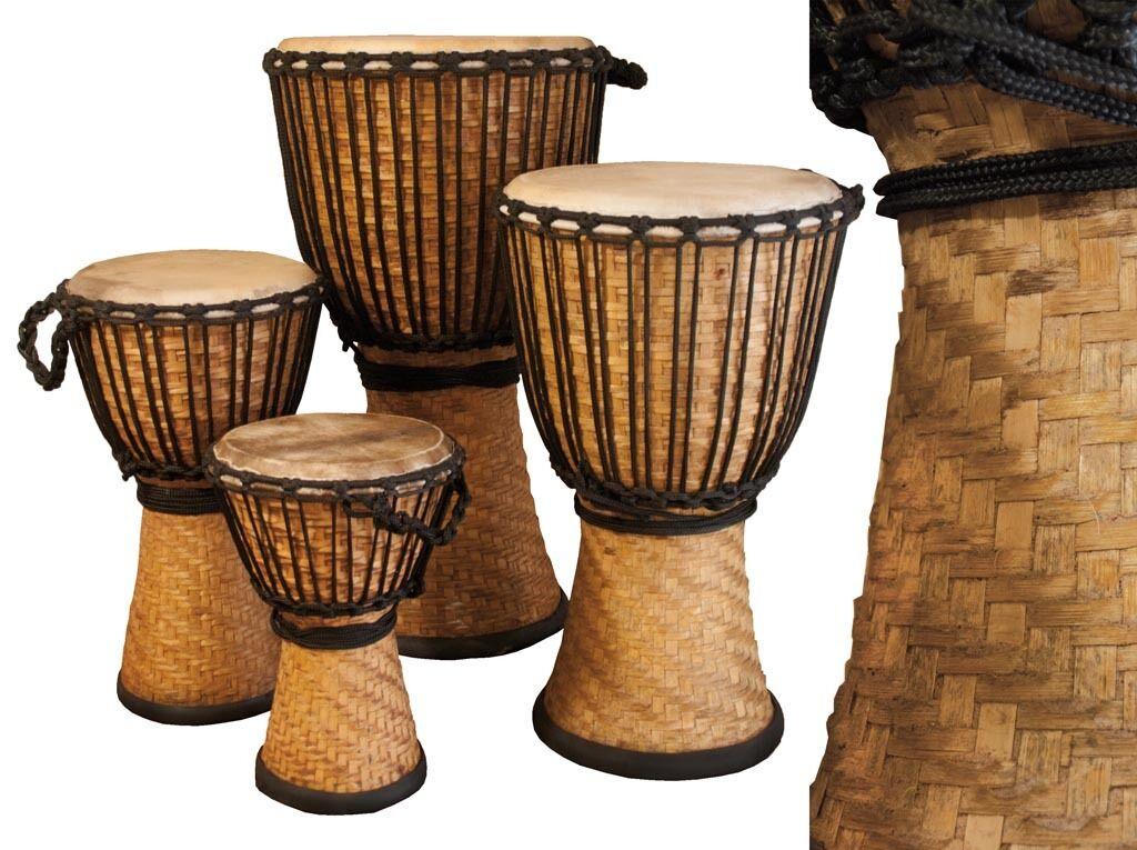 Djembe Bamboo,  16  tall, 10  head