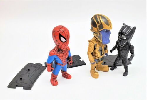 Spiderman, Thanos, Black Panther Avengers 3 for the Price of 1 Figure Set