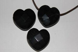 Herz-Anhaenger-schwarzer-Achat-facettiert-ca-30-mm-2-mm-Bohrung
