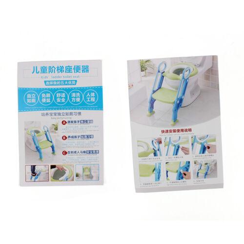 Toilettentrainer mit Treppe für Kinder Lerntöpfchen Toilettensitz Blau+Lila DE