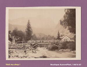 PHOTO-ALBUMINEE-SUR-CARTON-PONT-DE-BOIS-VERS-CHAMONIX-MONTAGNES-ALPES-A67