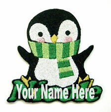 Penguin Custom Iron-on Patch With Name Personalized Free