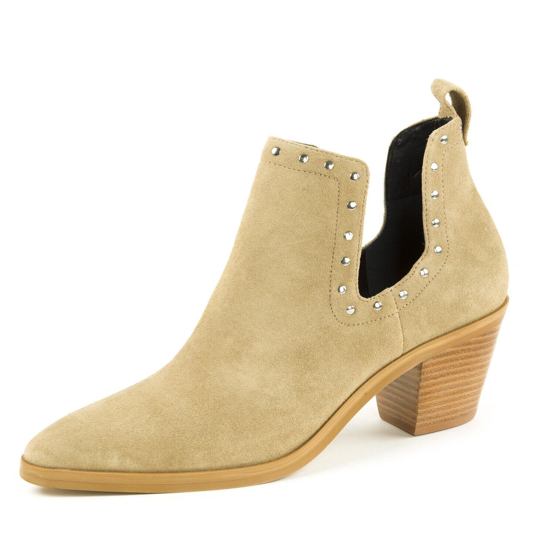 REBECCA MINKOFF Women's Lana Suede Split Shaft Ankle Boots  175 NIB