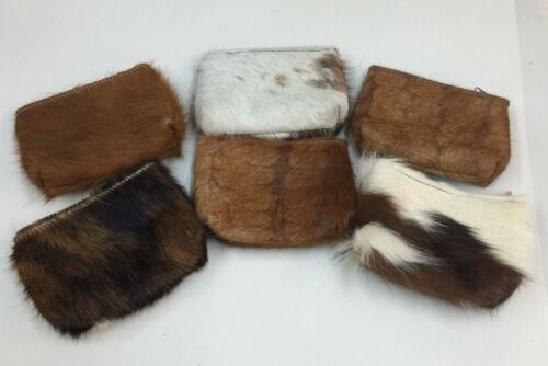 Raviani Coin Bags In Hair On Cowhide Leather  Crystal Border Made In USA