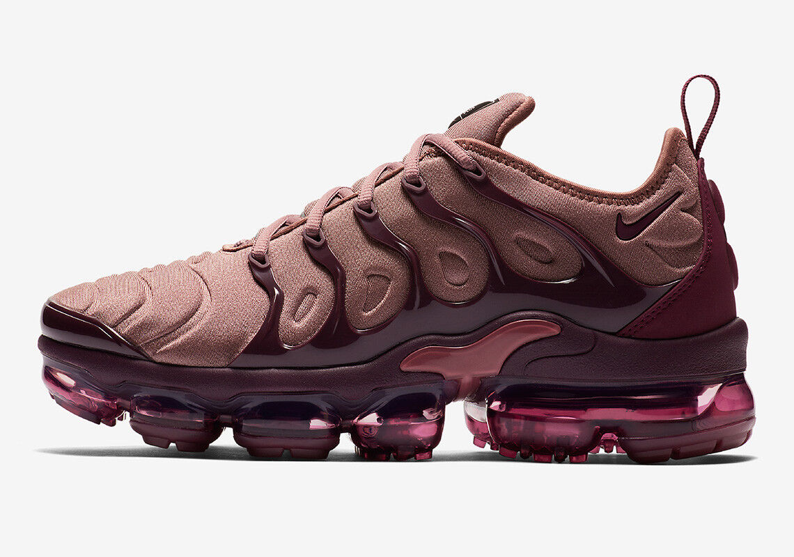 Nike WMNS Air Vapormax Plus size 8.5. Smokey Muave Bordeaux Burgundy AO4550-200