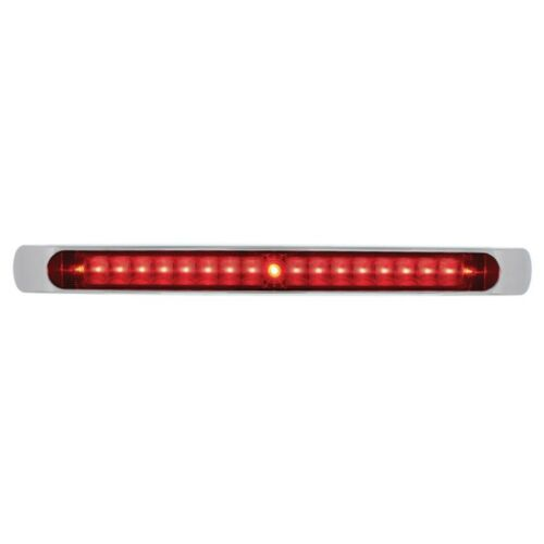 "17/"" LED Tail Light Bar With Chrome Bezel Red LED And Lens Stop Turn Tail Light"