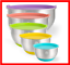 Mixing-Bowls-Set-of-5-Wildone-Stainless-Steel-Nesting-Mixing-Bowls-with-Lids thumbnail 1