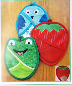PATTERN-Strawberries-Frogs-amp-Birds-Oh-My-fun-pot-holder-PATTERN