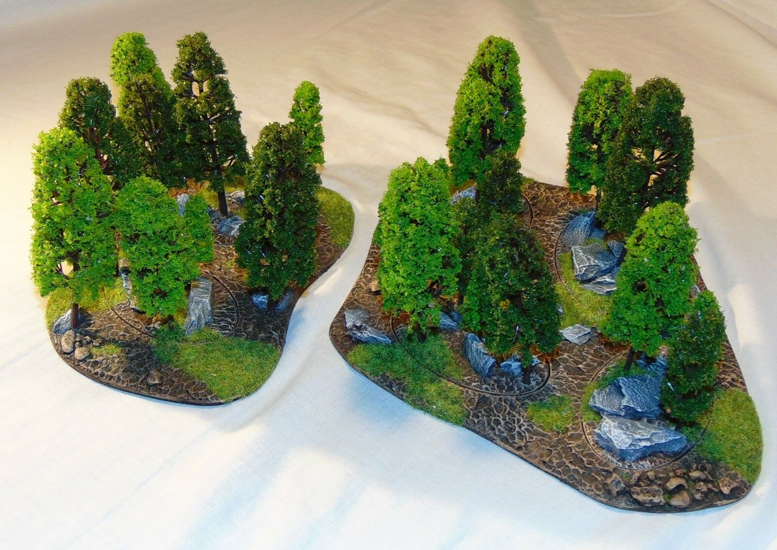 15mm to 28mm scale scenic area terrain. Trees and forests. ww2 sci-fi historic