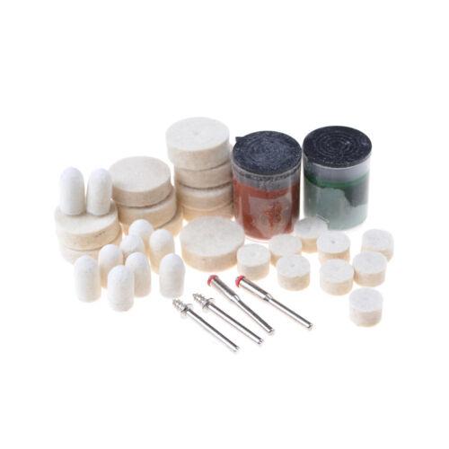 36X Polishing Pad Soft Felt Buffing Burr Polishing Wheels Kits Rotary Tools SK