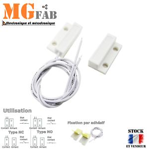 Capteur magnétique de porte blanc | Arduino interrupteur ILS détecteur DIY MC-38