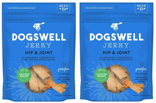Dogswell Hip and Joint Chicken Jerky Dog Grain Free Treats 12oz Made in USA