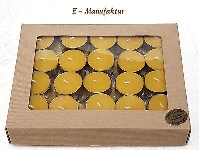 Set 40  x Teelichter Bienenwachs Kerzen Beeswax Candles (0,55 EUR pro )