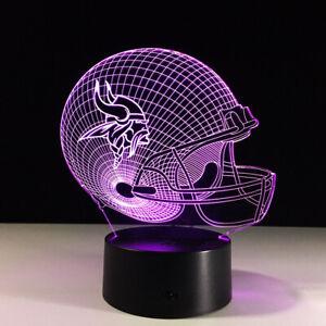 Minnesota-Vikings-LED-Light-Lamp-Collectible-NFL-Kirk-Cousins-Home-Decor-Gift