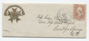1866-Yale-College-Cover-and-Letter-fraternity-logo-with-christmas-letter-y1214