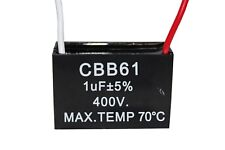 Cbb61 400v 1uf Terminal Ceiling Fan Motor Running Rectangle Capacitor 2 Wires