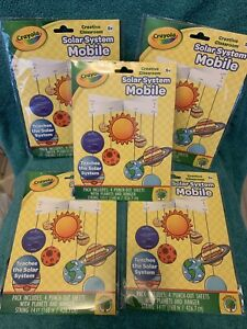Details about 5 Packs Crayola Solar System Mobile Craft Project Astronomy  Science