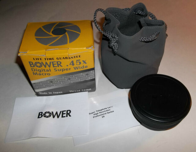 Bower Digital Super Wide Macro .45x Lens With Carrying Case Very Good Condition
