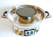 "Durable Shabu Shabu Hot Pot With BBQ Grill Stainless Steel 13.5"" x 13.5"" x 8.4"""