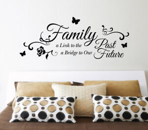 family a link to the past future wall sticker home quotes