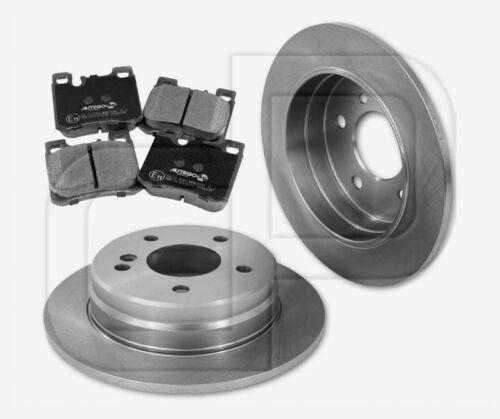 4 plaquettes de freins MERCEDES CLASSE C C 280 w202 arrière 258 MM 2 Disques de frein