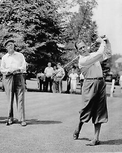 Details About Bobby Jones Grantland Rice Swing Photo Teeing Off