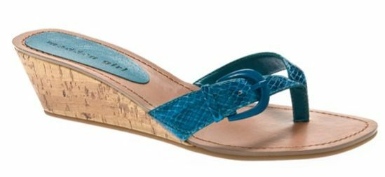50 MADDEN GIRL Wallie Sandals NEW Turquoise 6, 6.5 9.5