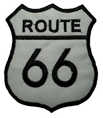 US Route 66 Car Motorcycle Biker Jacket Motif Embroidered Iron on Patch #265G