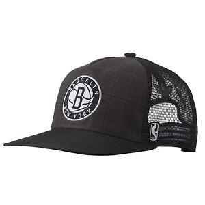 ADIDAS NBA BROOKLYN NETS HAT TRUCKER CAP ONE SIZE FITS MOST ... 92729e999fda