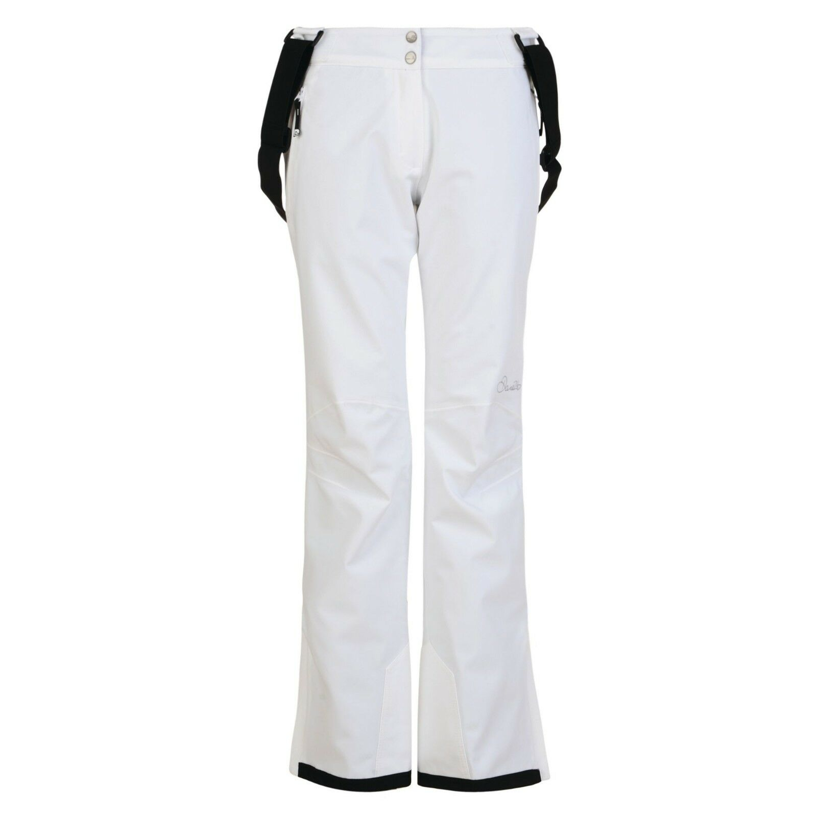 DARE 2B LADIES STAND FOR II SKI PANTS SLIM LEG SNOWBOARDING SALOPETTES WHITE