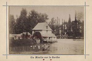 Mans Francia Stampa Albumina Vintage Verso 1890 Formato CDV 2 Foto R/V