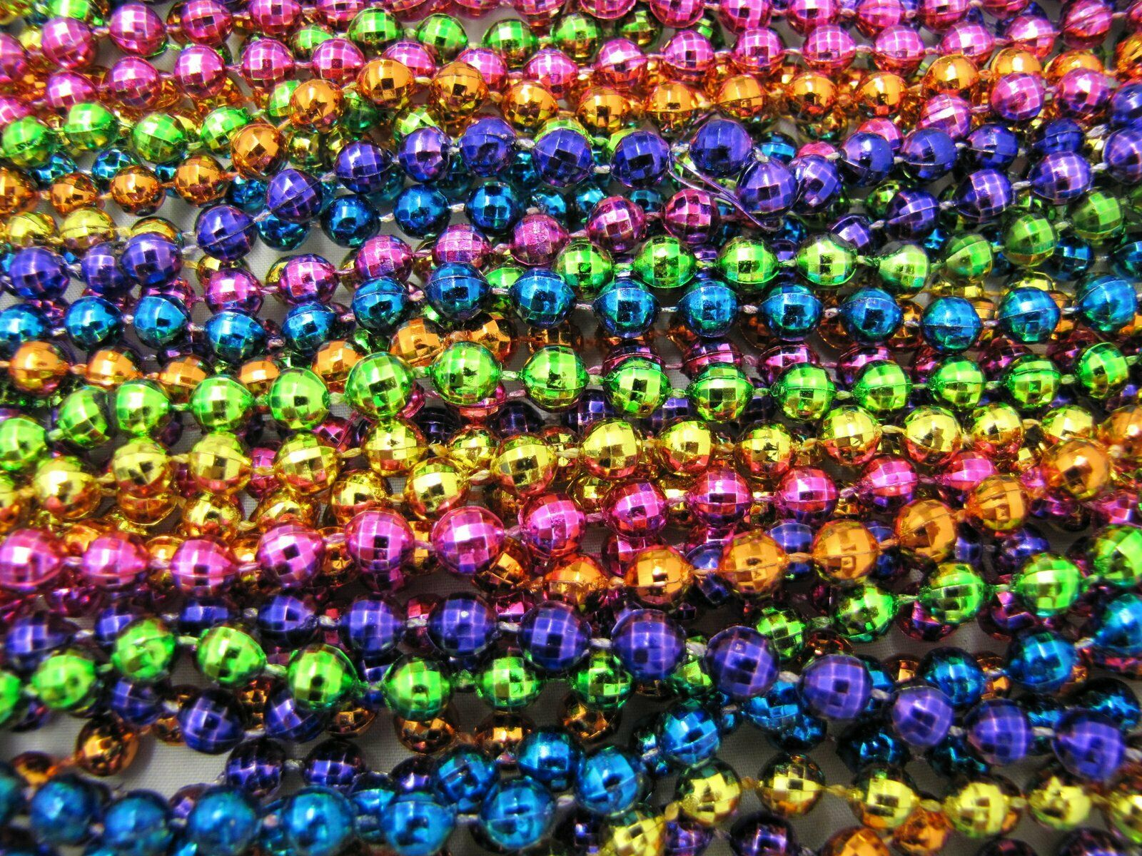 Mardi Gras Beads Assorted Size Color /& Styles 12 Pounds Length Pick Colors