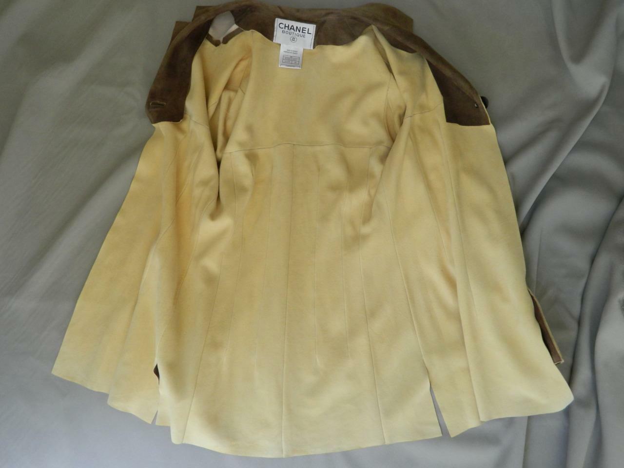 CHANEL Jacket Deer Skin Suede Chanel Horn Button … - image 11