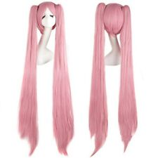 """USPS Mail 32/40"""" Hatsune  Long Cosplay Ponytail Full Wigs Blue Green Pink L2"""
